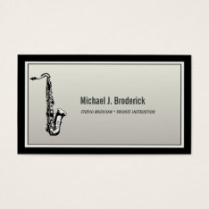Saxophone Professional Musician Business Card at Zazzle