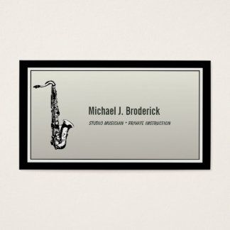 Saxophone Professional Musician Business Card