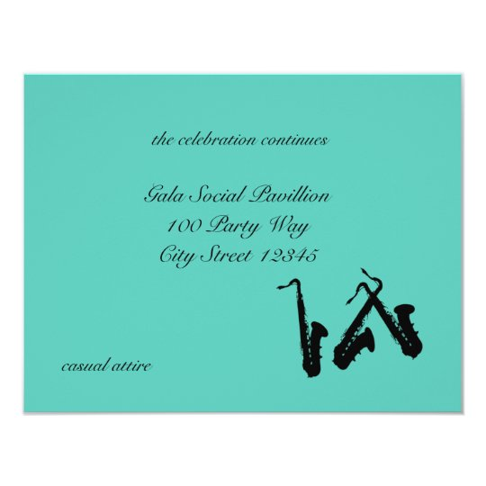 Saxophone/ Reception Card