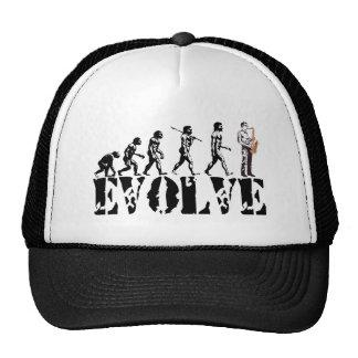 Saxophone Sax Evolution Musical Art Trucker Hats