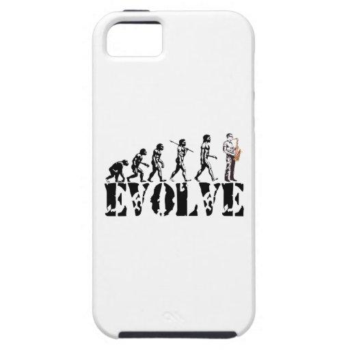Saxophone Sax Evolution Musical Art iPhone 5 Case