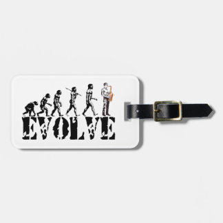 Saxophone Sax Evolution Musical Art Travel Bag Tags