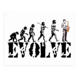 Saxophone Sax Evolution Musical Art Post Cards