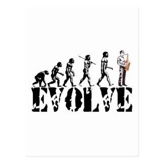 Saxophone Sax Evolution Musical Art Postcard