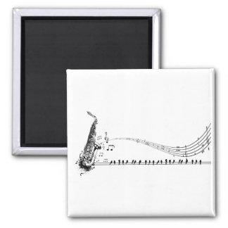 Saxophone ~ Sax Music & Blackbirds Refrigerator Magnet