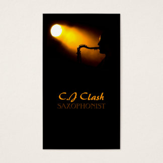 Saxophone, Saxophonist Lessons, Music, Instrument Business Card