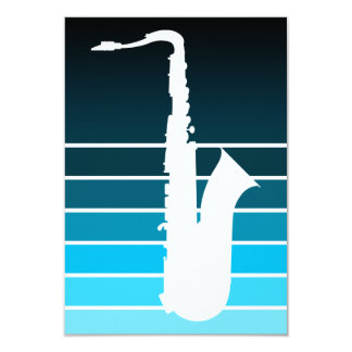 saxophone silhouette : blue fade card