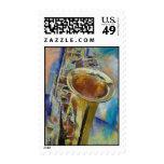 Saxophone Stamp