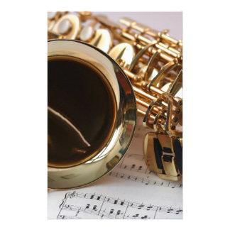 saxophone stationery