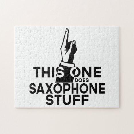 Saxophone Stuff - Funny Saxophone Music Jigsaw Puzzle