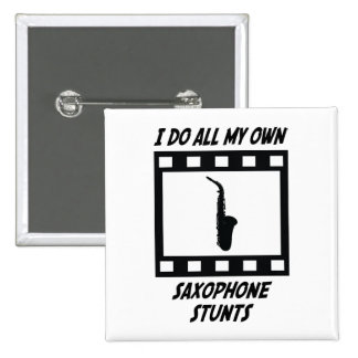 Saxophone Stunts Button