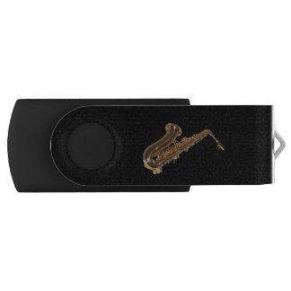 Saxophone Swivel USB 2.0 Flash Drive