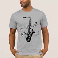 Saxophone T-shirt at Zazzle