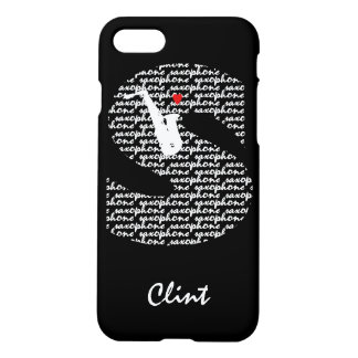 Saxophone Text Letter S iPhone 7 Case