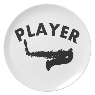 Saxophone vector designs dinner plate