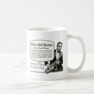Saxophone Vintage Ad Classic White Coffee Mug