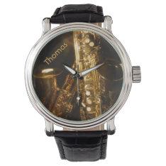 Saxophone Watch at Zazzle