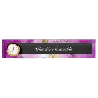 Saxophone with key notes and clef desk nameplates