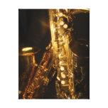 Saxophone Wrapped Canvas Print