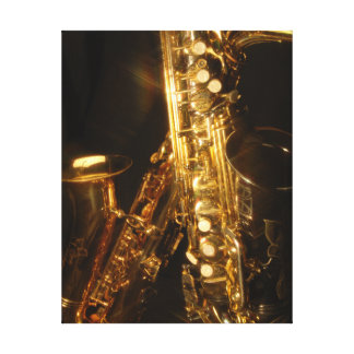 Saxophone Wrapped Canvas Print