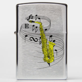 Saxophone Zippo Lighter