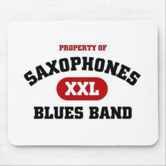 Saxophones Blues band Mouse Pad