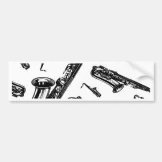 Saxophones Car Bumper Sticker
