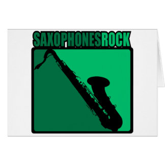 Saxophones Rock! Card