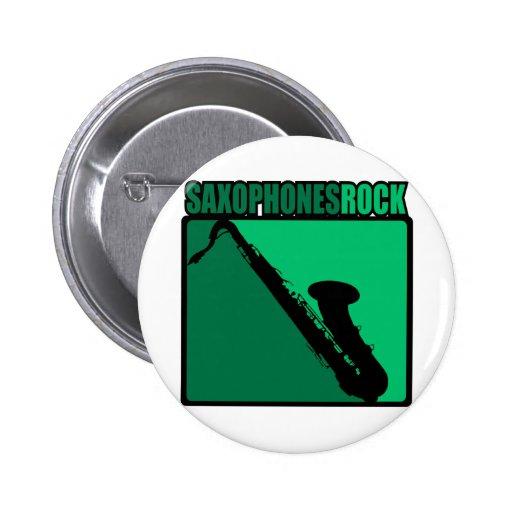 Saxophones Rock! Pinback Button