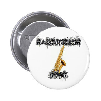Saxophones Rock Pinback Button