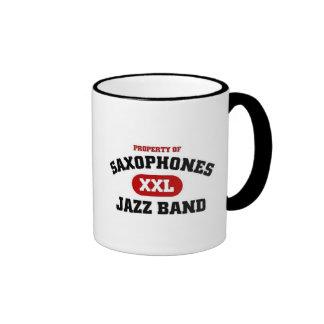 saxophones XXl Jazz Band Ringer Mug