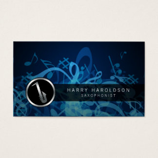 Saxophonist Bold Saxophone Icon Business Card