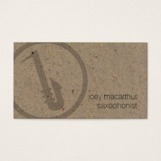 Saxophonist Bold Saxophone Icon Music Business Card