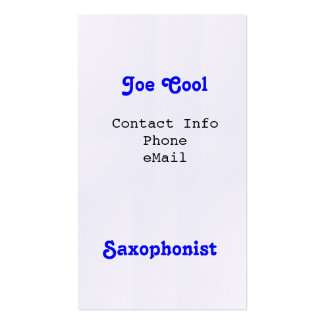 Saxophonist Business Cards