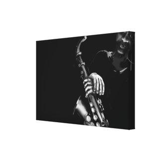 Saxophonist Canvas Prints