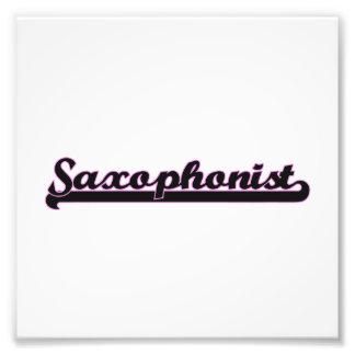 Saxophonist Classic Job Design Photo Print