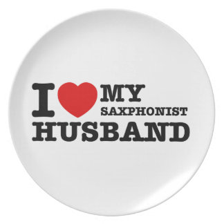 Saxophonist Husband Designs Dinner Plate