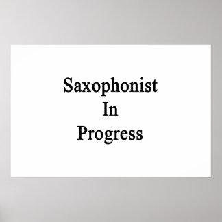 Saxophonist In Progress Print
