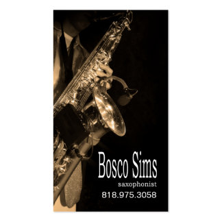 Saxophonist Musician for Music Business Card