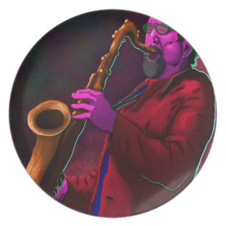 Saxophonist Party Plate