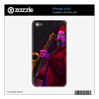 Saxophonist Skin For iPhone 4