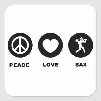 Saxophonist Square Stickers