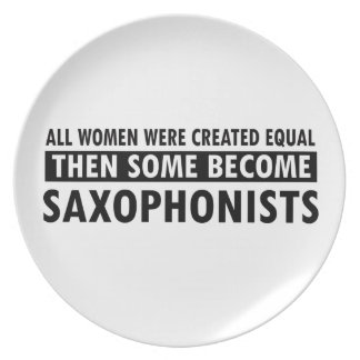 saxophonists music designs melamine plate