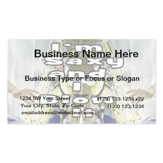 saxy and I blow it middle blue 2 double solid play Business Card Templates