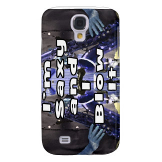 saxy and I blow it middle blue double solid player Galaxy S4 Case