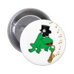 Saxy Frog Pinback Button