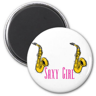 SAXY Girl Pink Saxophone Players Design Magnet
