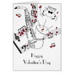 Saxy Valentine's Day Greeting Card
