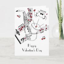 Saxy Valentine's Day Holiday Card
