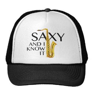 Saxy y yo lo sabemos gorros bordados